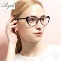 Moda 2017 TR90 Vidros Do Olho de Gato Mulheres Optica Computador Lente Clara Do Vintage Óculos de Armação Armação de óculos Feminino Óculos Retro