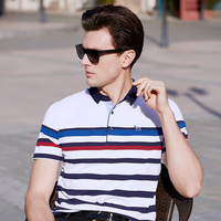 2018 Hot Sale Gradient Casual Xs 3xl Brand New Men's Polo Shirt Men Cotton Short Sleeve Brands Jerseys Mens Shirts Striped