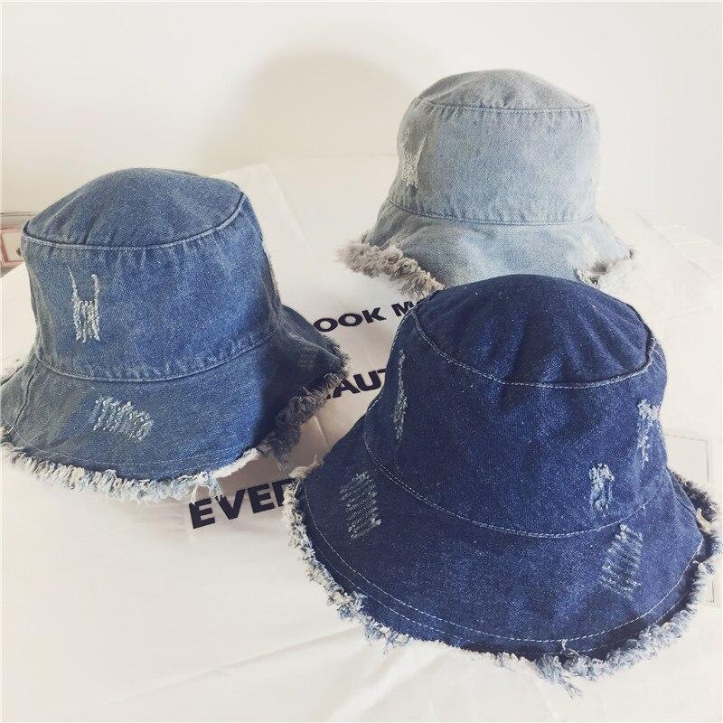 e2683615 Hats & Headwear Light Blue Hosaire 1X Girls Baby Denim Sun Hat Kids Stars  Printing Fisherman Bucket Caps