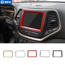 MOPAI ABS навигации автомобиля панель GPS украшения рамки крышка наклейки для Jeep Cherokee на 2014 интерьер автомобильные аксессуары стайлинга автомобилей