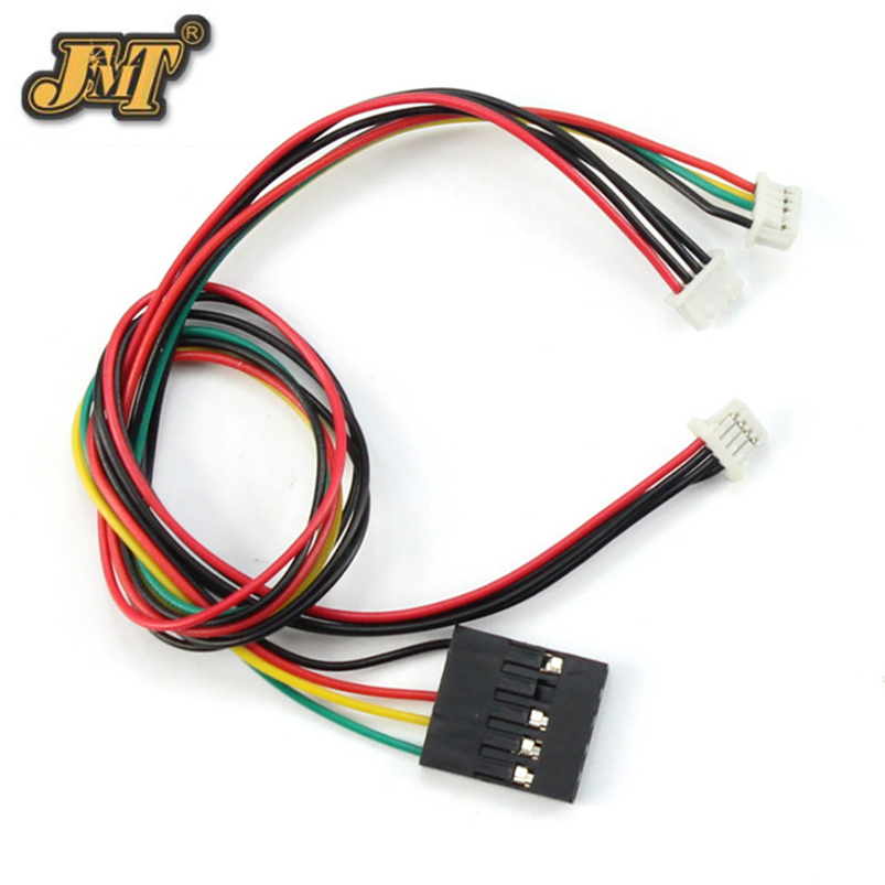 JMT 100pcs 23cm 4p OSD Cable Connector for APM 2.8 2.6 Pixhawk PIX PX4 Flight Controller RC Drone