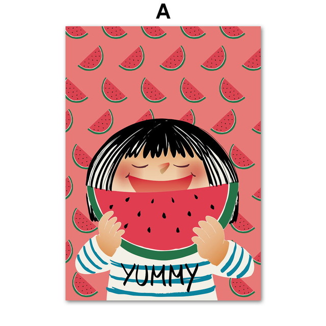 COLORFULBOY-Kawaii-Little-Girl-Watermelon-Wall-Art-Print-Canvas-Painting-Nordic-Poster-Pop-Art-Wall-Pictures.jpg_640x640