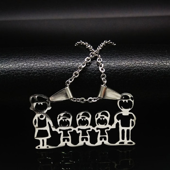 Unisex Family Necklace Jewelry Necklaces Women Jewelry Metal Color: 3 boy