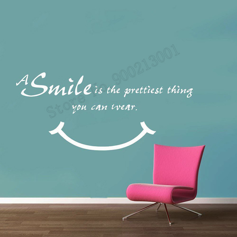 5d5d6504537 Detail Feedback Questions about Smile is Pretting things Wall Decoration  Vinyl Design Poster Beauty Fashion Decals Wall Sticker DIY Ornament Decor  LY1035 on ...