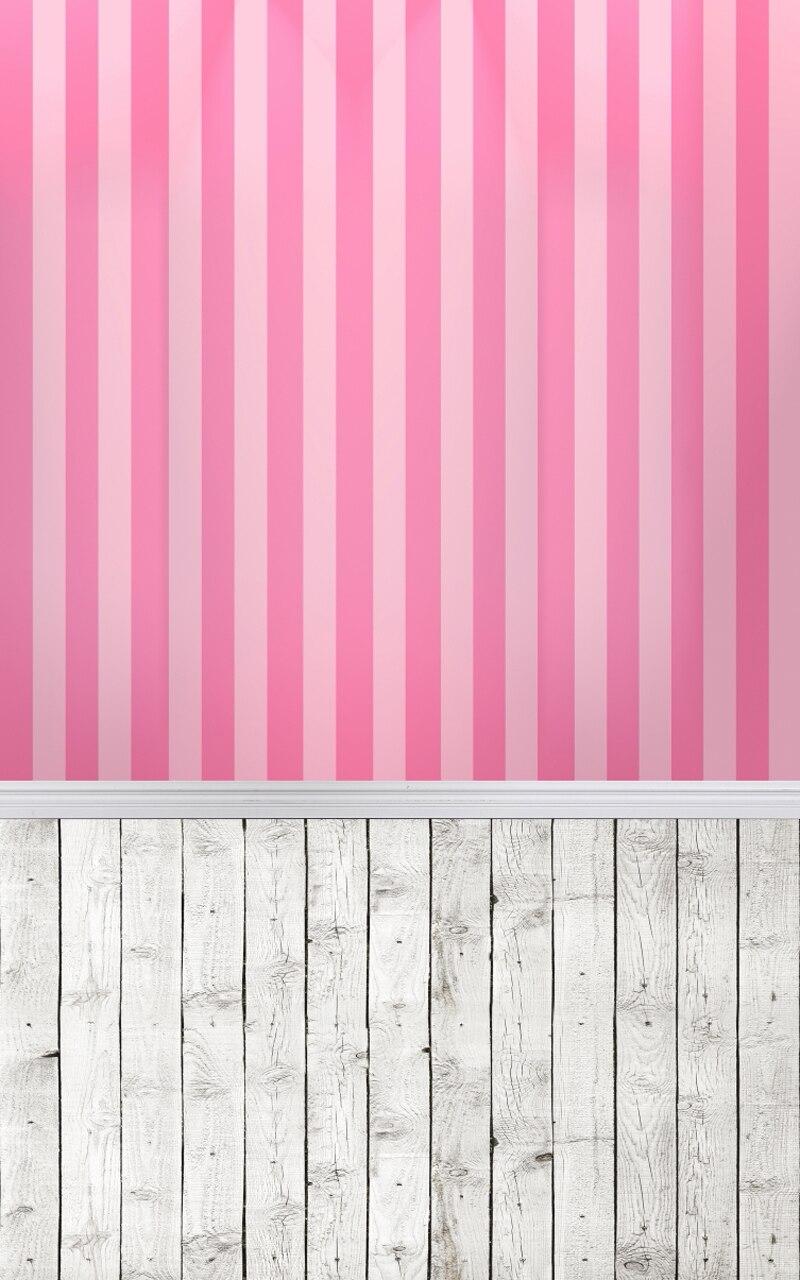 Pink Wood Floor Art Fabric Photo Studio