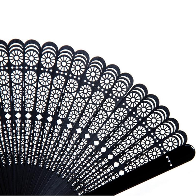 Begrenzte schwarze Falthandbambusfächer Leques Japoneses Damen, - Wohnkultur - Foto 4