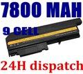 7800 мАч замена 9 ячеек аккумулятор ноутбука для IBM ThinkPad R50 R50E R50P R51 R52 T40 T40P T41 T41P T42 T42P T43 T43P ноутбук