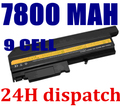 7800mah 9 cells Replacement Laptop Battery For IBM ThinkPad R50 R50E R50P R51 R52 T40 T40P T41 T41P T42 T42P T43 T43P Laptop