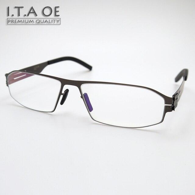 Hot ITAOE Arne Full Rim Ic Style No Screws Stainless Steel Men Male Myopia Reading Optical Eyewear Frames Glasses Spectacles