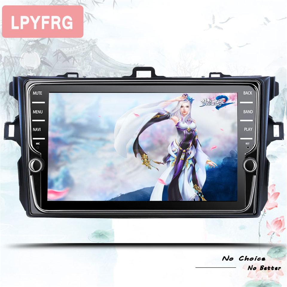Car Radio Android 10.0 Multimedia Player For <font><b>Toyota</b></font> <font><b>Corolla</b></font> <font><b>E140/150</b></font> 06 2007-2009 2010 2011 2012 2013 WIFI GPS Navigation Stereo image