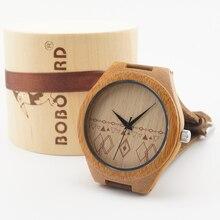 БОБО ПТИЦА Новые деревянные наручные часы причинные часы натуральная кожа бамбук деревянные часы для мужчин и женщин лучшие подарки с подарком коробка