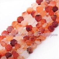 Frete Grátis 12.14mm Coin Esculpido Multicolor Carnelian Gem Stone Para DIY Colar Pulseira Jóias Fazendo Spacer Beads 15