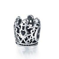 Original Vintage Imperial Crown Charm Anthentic 925 Silver Bead Fits Pandora DIY Bracelet Fashion Jewelry Accessories