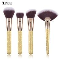 DUcare 4 PCS Makeup Brushes Set Foundation Powder Contour Highlighter Brush Make Up Tools Kit