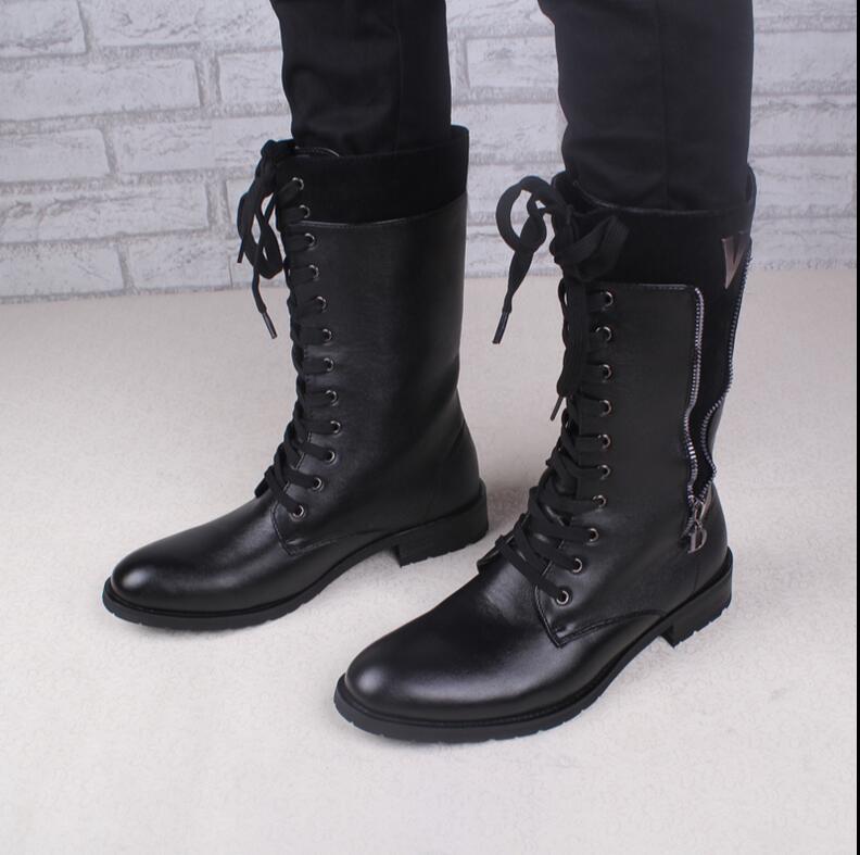 Popular Men Knee High Boots-Buy Cheap Men Knee High Boots lots ...