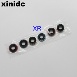 Xinidc 10 sztuk oryginalny Sapphire powrót kamera tylna szklana osłona obiektywu z ramą uchwyt dla iPhone XR