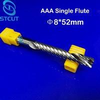 2pcs AAA HQ 8 52MM Single Long Flute Bit Carbide End Mill Set CNC Router End