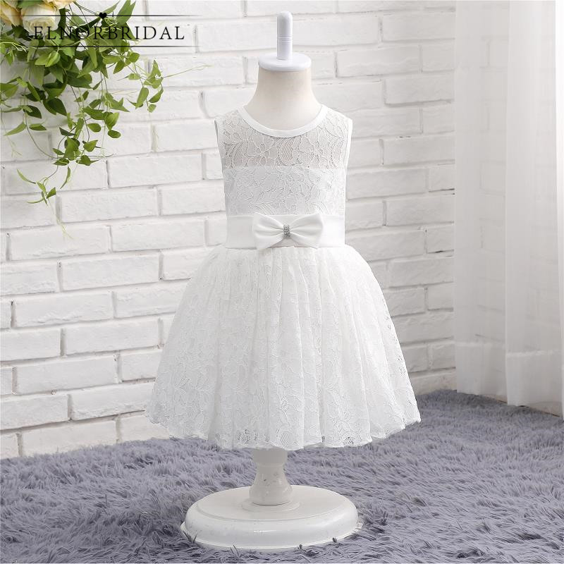 Vintage Lace   Flower     Girl     Dresses   For Weddings 2019 Bow Back Cap Sleeve First Communion   Dress   Kids Evening Party Gowns