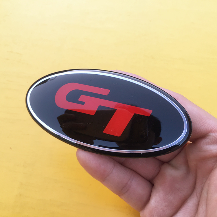 Image 3 - 8.5x4.3cm 3D sticker Car Front Rear Steering Wheel Badge Emblem For KIA OPTIMA K2/K3/K4/K5 Venga Car Accessories-in Car Stickers from Automobiles & Motorcycles