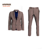2018NEW AFRIPRIDE private custom african clothes for men slim fitted formal suit jacket+pant wedding work place business A731605