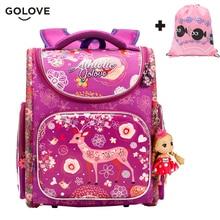 Купить с кэшбэком 2017 Top Quality Children School Bags for Girls Boys Waterproof Orthopedic kids Backpacks floral School Book Bag Mochila Escolar