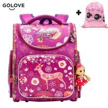 Golove одежда высшего качества дети школьные рюкзаки для девочек обувь для мальчиков водостойкие ортопедические Дети Рюкзаки цветочный школьная сумка Mochila Escolar