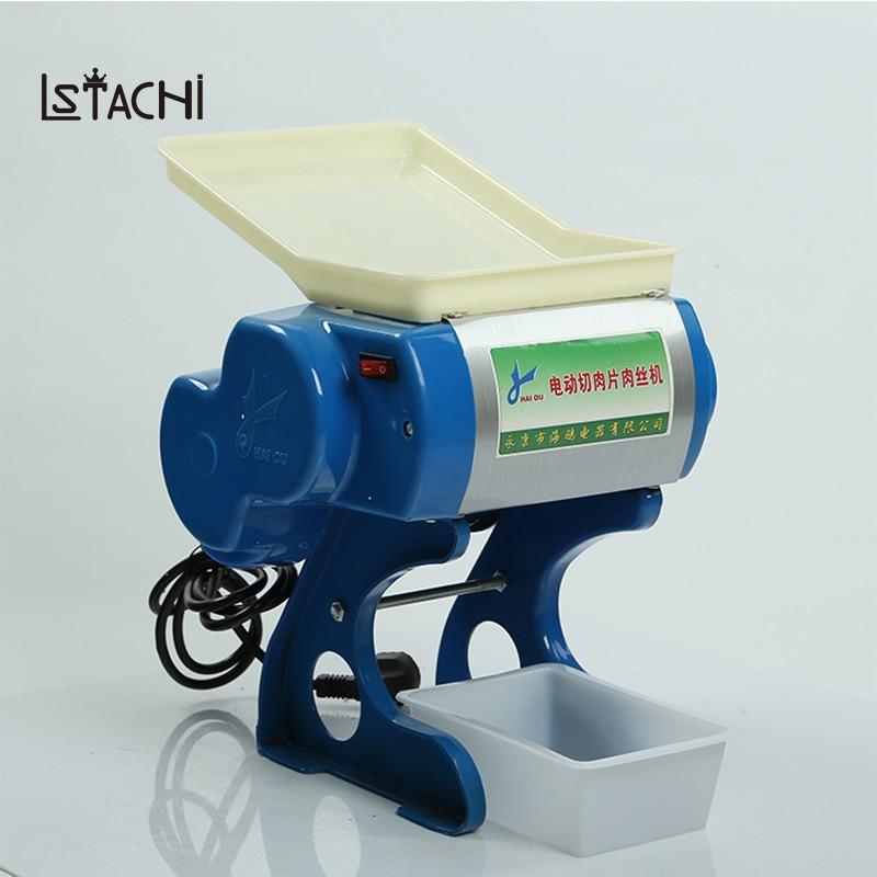 100% Wahr Lstachi 370 Watt Multi-funktion Edelstahl Fleisch Schneiden Maschine Kommerziellen Slicer Desktop Automatische Elektrische Dicing Maschine