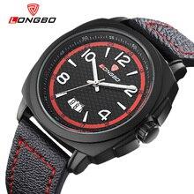 LONGBO 2016 Mens Relojes de Lujo Superior Marca de Venta Caliente de Los Hombres de Cuero Reloj de Pulsera de Cuarzo de Alta Calidad Relogio masculino Heren Horloge