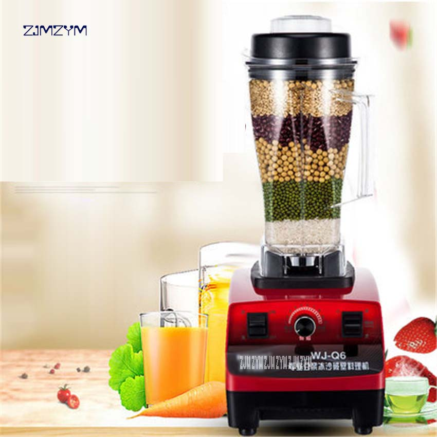 1PC WJ-Q6 1500W Commercial Blender Mixer Juicer Power Food Processor Smoothie Bar Fruit Electric Blender Stainless steel, ABS bpa 3 speed heavy duty commercial grade juicer fruit blender mixer 2200w 2l professional smoothies food mixer fruit processor