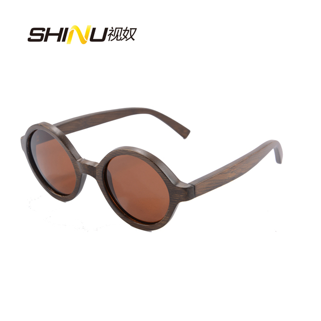 85fd6766e79 retro round wood bamboo sunglasses women men polarized glasses new fashion Sun  glass 6019