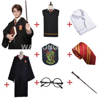 Harry Potter Gryffindor Uniform Harry Potter Full Set Cosplay Costume Adult Version Cotton Halloween Party New