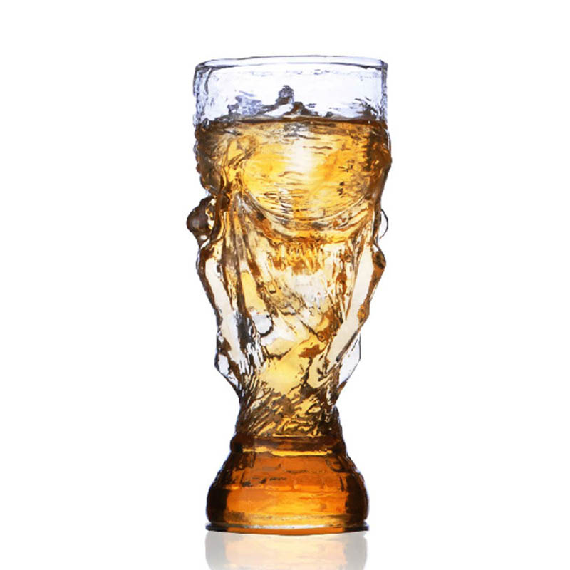 New Creative 350mL Glass Cup Bar Crystal Water Whiskey Wine Drinking The Football Word Cup Design Glass Wine Beer Cup