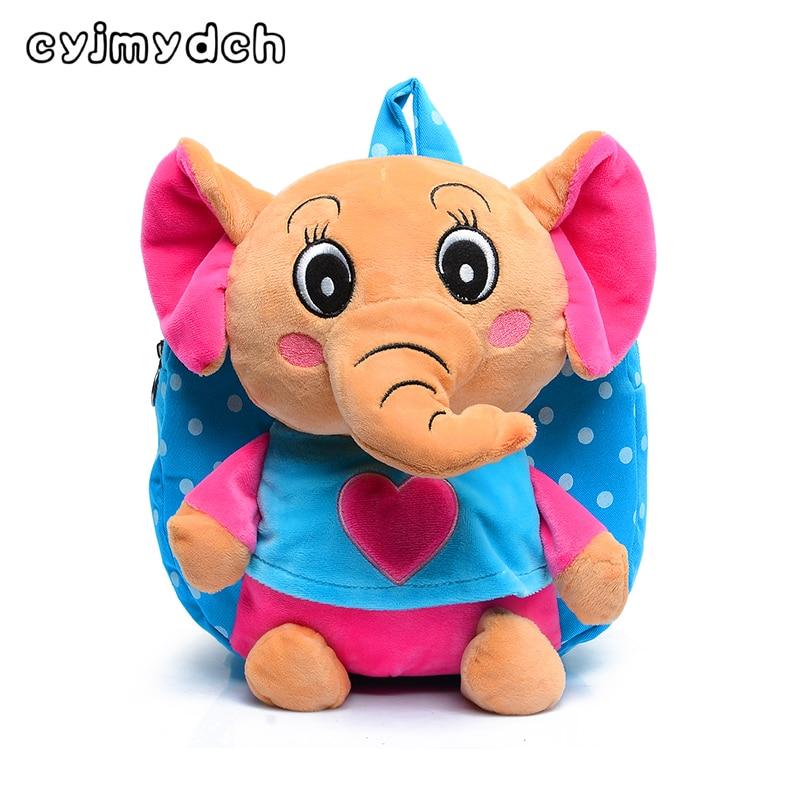 Lovely Cartoon Elephant Plush Backpacks Toys Hobbies School Bag Soft Dolls Stuffed Plush Children Backpacks Kids