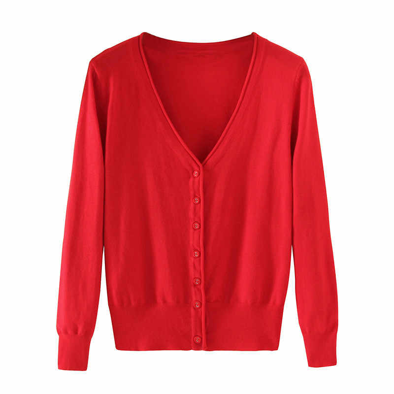 Cardigan Wanita Kebesaran Sweter Mantel Musim Semi Musim Gugur Single Breasted Lengan Panjang Rajutan Sweater Wanita Jumper Plus Ukuran 4XL