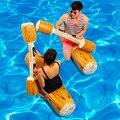 4 Pçs/set Inflado Piscina Inflável Jangada Flutuador Água Esportes Brinquedos Para Adultos Crianças Gladiador Divertido Jangada Summer Holiday Party Favor
