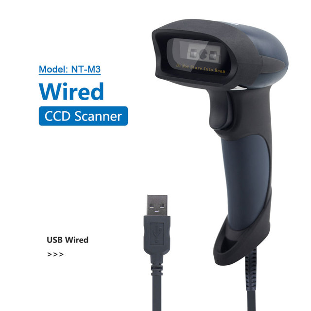 NETUM M2 Wireless Barcode Scanner AND M7 Bluetooth CCD Scanne AND M5 Wired 2D QR Reader USB BarCode Reader for POS and Inventory 3