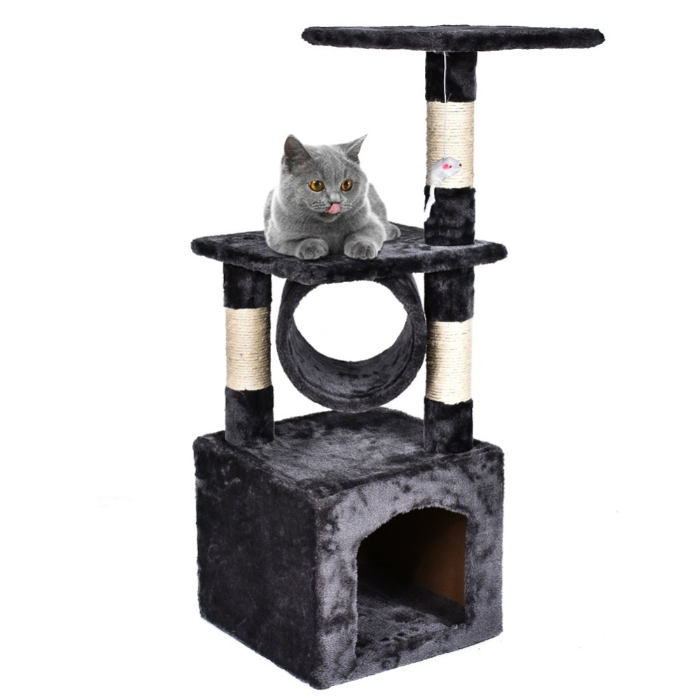 "36"" Cat Tree Tower Condo Furniture Scratching Post Pet Kitty Play House  917"