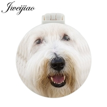 JWEIJIAO old English sheepdog sheltie shitz sue BInchon friese Pocket Mirror With Massage Comb Folding Makeup Vanity Mirrors
