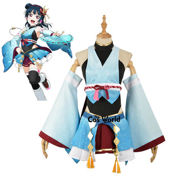Love Live Sunshine Aqours Tsushima Yoshiko Yohane Rally Racing Kimono Yukata Dress Outfit Anime Cosplay Costumes