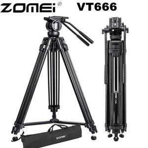 Image 1 - Zomei VT666 מקצועי מצלמה וידאו חצובה עם 360 תואר פנורמי נוזל ראש עבור DSLR למצלמות וידאו, DV, צילום