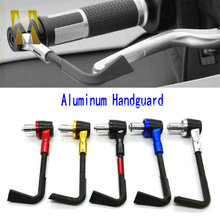 Aluminum Universal 7 8 22mm Motorcycle Proguard System Brake Clutch Levers Protect Guard Black for Yamaha