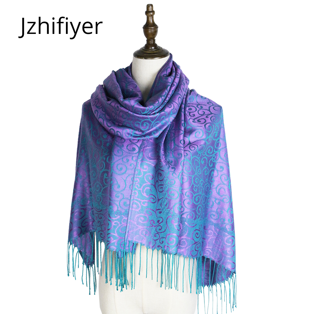 scarf   woven shawl pashmina fashion mujer capes jacquard hijabs winter kashmir paisley hijab femme muffler stole   wraps   tippet