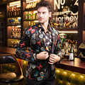 Free Shipping men's 2016 male man fashion casual New jacket plus size Mens butterfly print blazer Gentleman party suit on sale