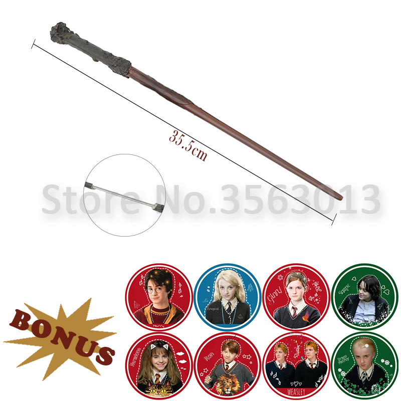 19 Kinds Of Metal Core Harry Serials Magic Wand Hermione Dumbledore Scriptures Trick Cosplay Stick Christmas Kid Toy Gift