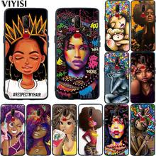 Phone Case For Oneplus 7 Pro 6T 6 5 5T African Beauty Girl Black silicone TPU Cover Coque Etui Funda Shell Luxury Fashion