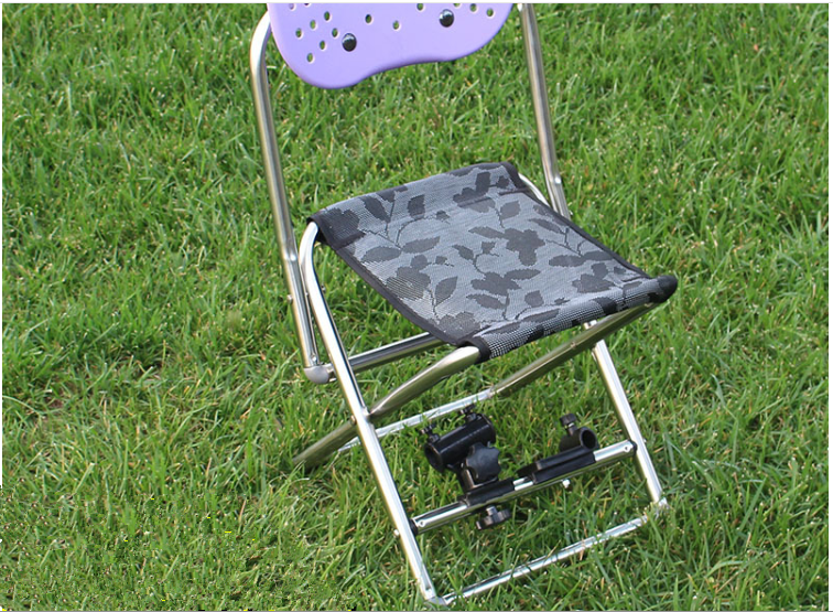 Stainless steel folding fishing chair turret seat back fishing stool fishing gear wholesale new  free  shipping