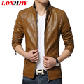 LONMMY Men leather jackets coat Mens coat Motorcycle silm zipper Fashion coats Leather & Suede jacket L-4XL