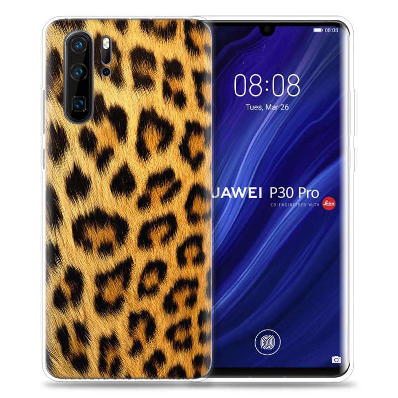 Huawei 社 P30 P20 P10 P9 メイト 10 20 Lite プロ携帯携帯電話袋 P スマート Z 2019 プラスヒョウ柄ヘビスキンアートパタパタ