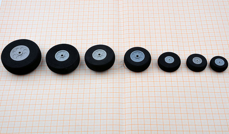 10PC Model Aircraft Wheels D30/40/50/60/70/80mm Sponge Wheel Tires Shockproof Wheels for RC Electric Toys Spare Parts image
