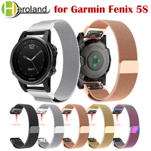 stainless steel 20mm Easy Fit wristband strap for Garmin Fenix 5s /5S plus Milanese loop Quick release Metal smart watch bands